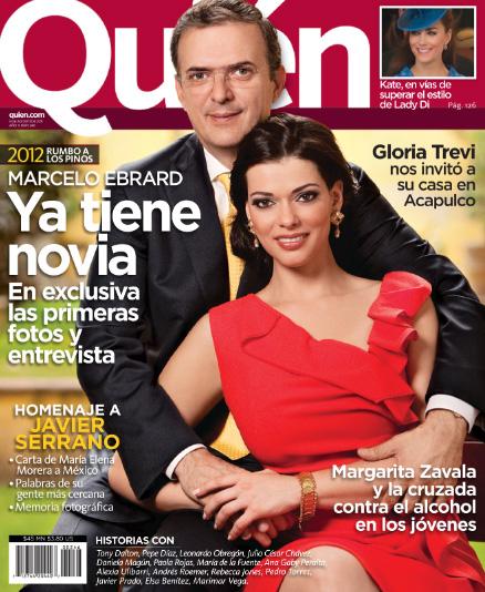 Marcelo Ebrard presenta a su novia en Quién