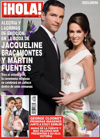 La boda de Jacqueline Bracamontes en Revista HOLA