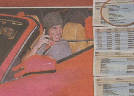 William Levy multado por conducir a alta velocidad