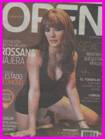 Rossana Najera en Revista Open