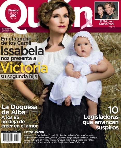Issabela Camil con su hija en Revista Quién