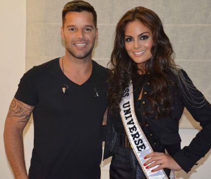 Ricky Martin admira a la mexicana Ximena Navarrete