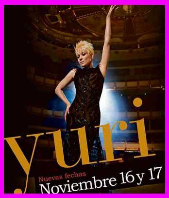 Yuri 16 y 17 de noviembre en Auditorio Nacional