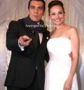 Elizabeth Álvarez y Jorge Salinas en su boda