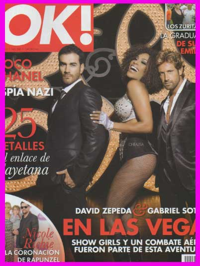 David Zepeda y Gabriel Soto en Revista OK