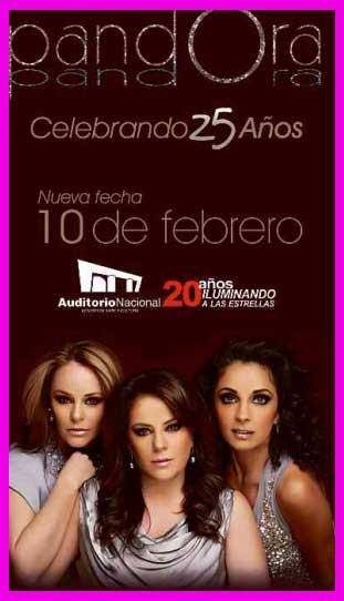 Pandora 10 febrero 2012 en Auditorio Nacional