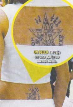 Violeta Isfel se hizo un tatuaje