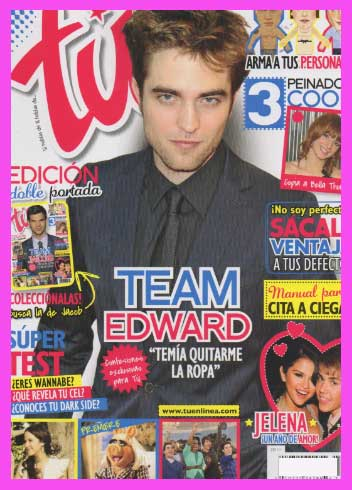 Robert Pattinson y Taylor Lautner en Revista Tú