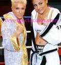 Yuri con boxeadora La Guerrera