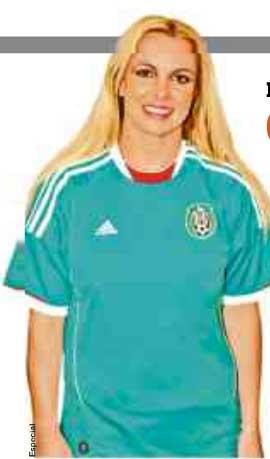 Britney Spears con la playera de la selección mexicana