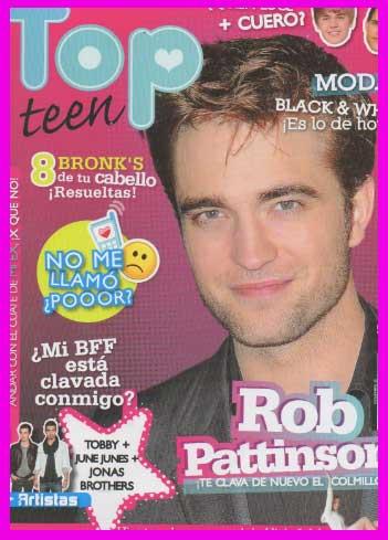 Robert Pattinson en Revista Top Teen
