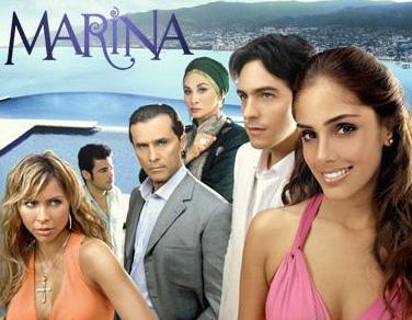 Marina por Galavisión en enero de 2012
