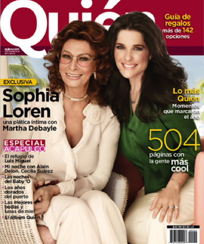 Sophia Lorent y Martha Debayle en Revista Quién