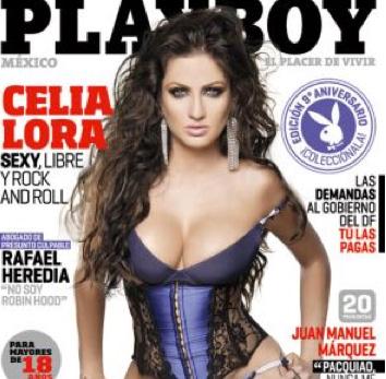 Celia Lora nuevamente en Playboy