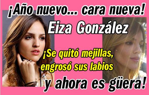 Eiza González cabia completamente su rostro