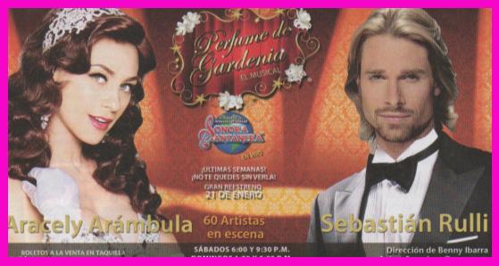 Perfume de Gardenia con Sebastian Rulli y Aracely Arámbula a partir del 21 de enero