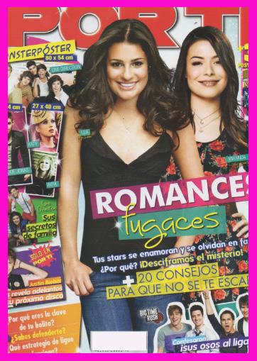 Revista Por Ti con Lea Michele y Miranda Cosgrove