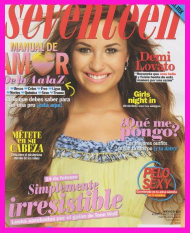 Demi Lovato en Revista Seventeen