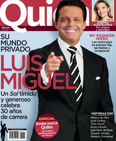 Luis Miguel celebra 30 años de carrera en Revista Quien