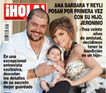 Hijo de Ana Bárbara y Reily será bautizado en Chiapas