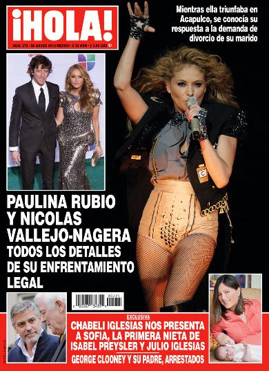 Paulina Rubio y su enfrentameinto legal con Colate en HOLA