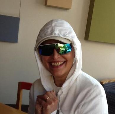 Daniela Romo se muestra optimista ante Radioterapias
