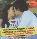 Danna Paola y Eleazar Gómez besándose