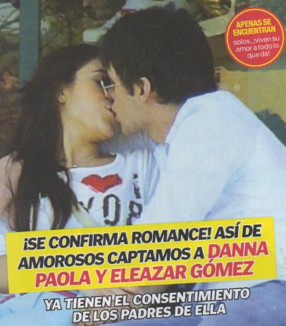 Danna Paola y Eleazar Gómez captados en pleno romance