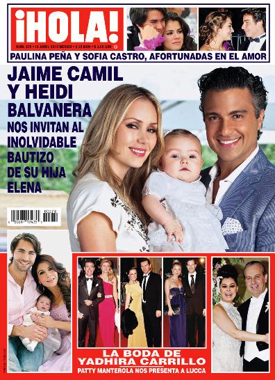 Jaime Camil y el bautizo de su hija en HOLA