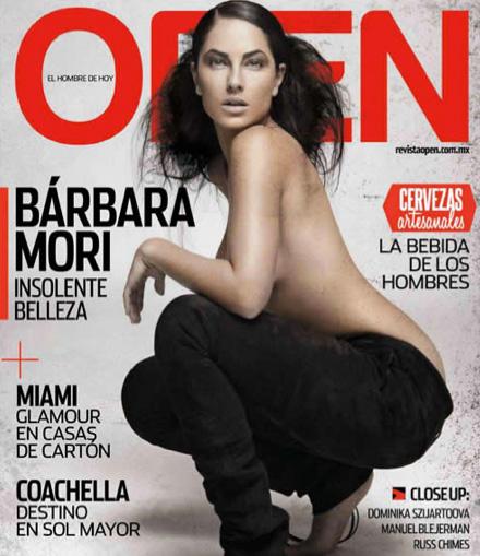 Bárbara Mori en revista Open