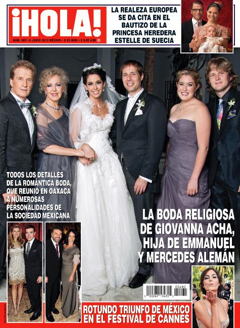 La boda de la hija de Emmanuel en Revista ¡HOLA!