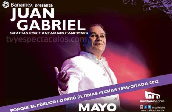 Juan Gabriel canceló concierto en el Auditorio