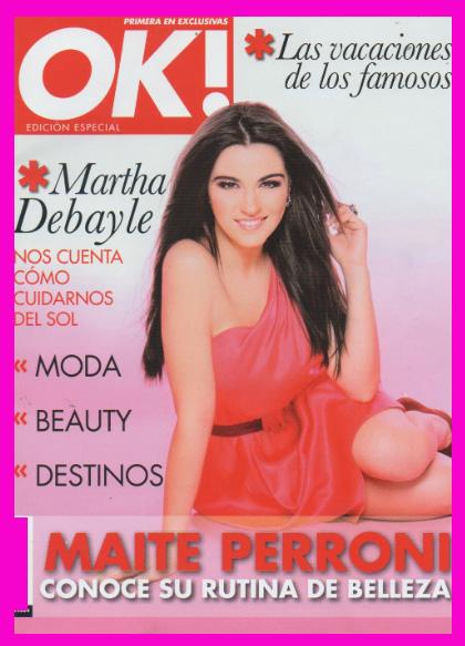 Maite Perroni en Revista OK!