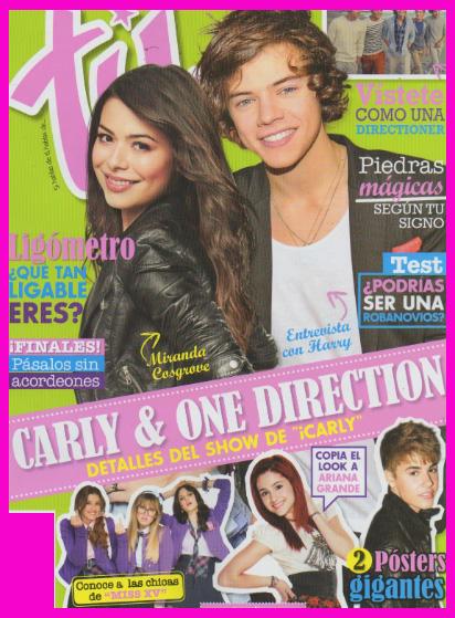 Miranda Cosgrove y Harry de One Ditection en Revista Tú