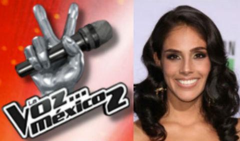 Sandra Echeverría posible conductora de La Voz México 2