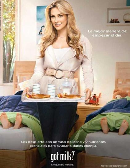 Aracely Arámbula en campaña de Got Milk