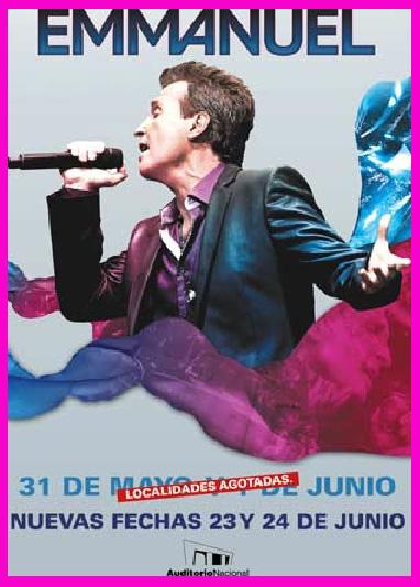 Emmanuel 23 y 24 de junio en Auditorio Nacional