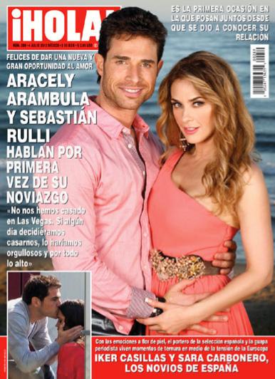 Sebastian Rulli y Aracely Arámbula desmienten boda