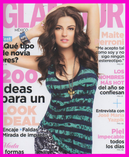 Maite Perroni en Revista Glamour