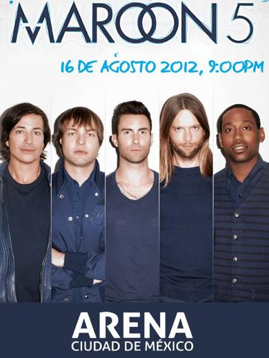 Maroon 5 21 de agosto en Arena Ciudad de México
