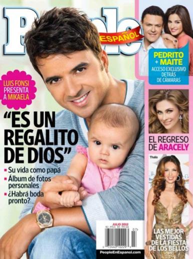 Luis Fonsi presenta a su bebé en People