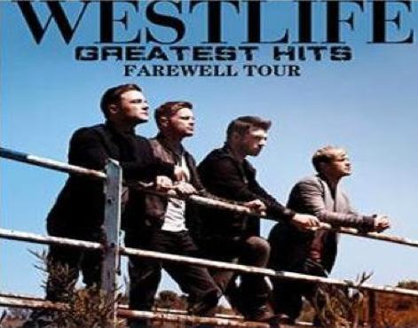 Transmisión de conciertos de despedida de Westlife en el Lunario