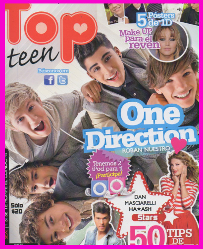 One Direction en Revista Top Teen