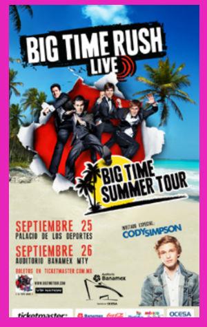 Big Time Rush en México 25 y 26 de septiembre