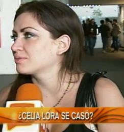 Aseguran que Celia Lora se casó en secreto
