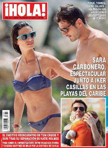 Sara Carbonero con Iker Casillas en Revista HOLA