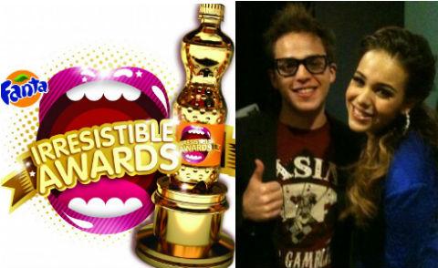 Promocionan Danna Paola y Yurem premios Fanta Irresistible Awards