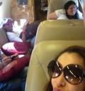 Ninel Conde en avión privado