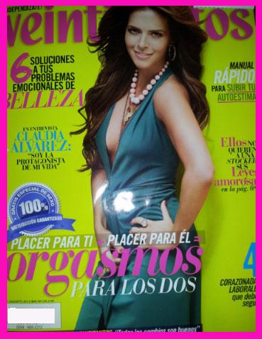 Claudia Álvarez en revista Veintitantos