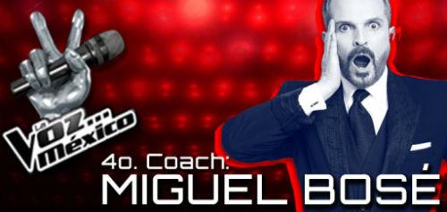 Confirman a Miguel Bosé como cuarto Coach de La Voz México 2